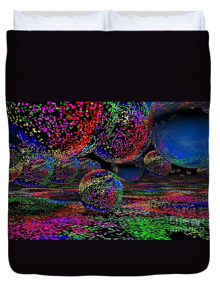 Balls1 Duvet Cover by Mark Blauhoefer