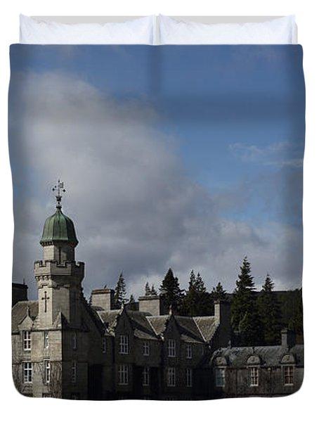 Balmoral Castle In A Closeup Panorama Duvet Cover