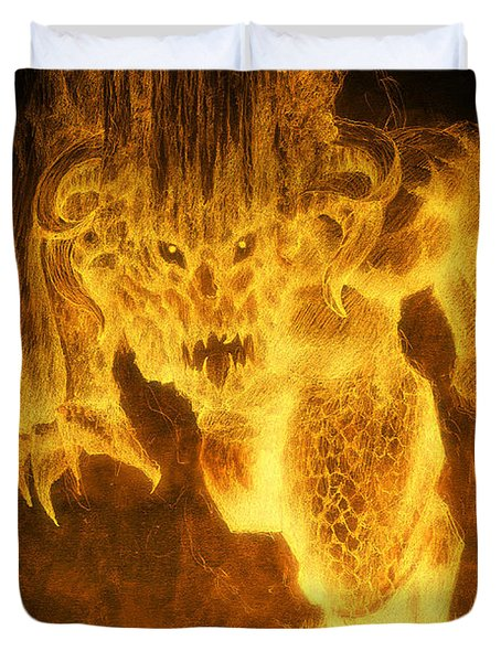Balrog Of Morgoth Duvet Cover