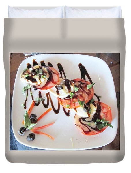 Balsamic Salad Duvet Cover by Donna Wilson