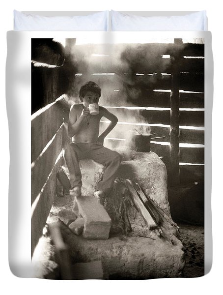 Duvet Cover featuring the photograph Baltazar Dominguez by Tina Manley