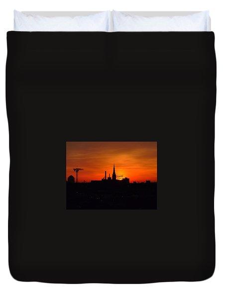 Baltimore Dawn Duvet Cover by Robert Geary