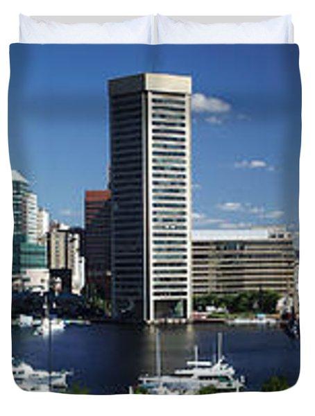 Baltimore Inner Harbor Panorama Duvet Cover