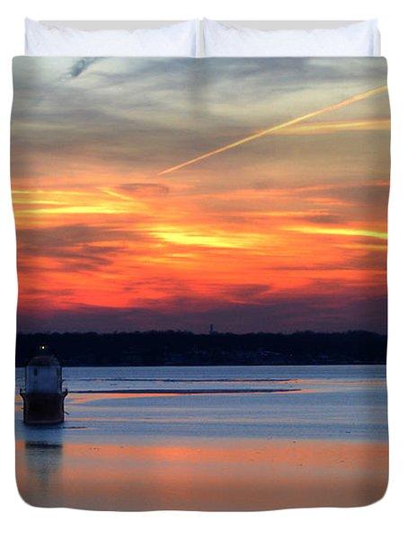Baltimore Light At Gibson Island Duvet Cover