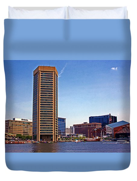 Baltimore World Trade Center Duvet Cover by Andy Lawless