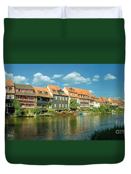 Bamberg Little Venice 1 Duvet Cover by Rudi Prott