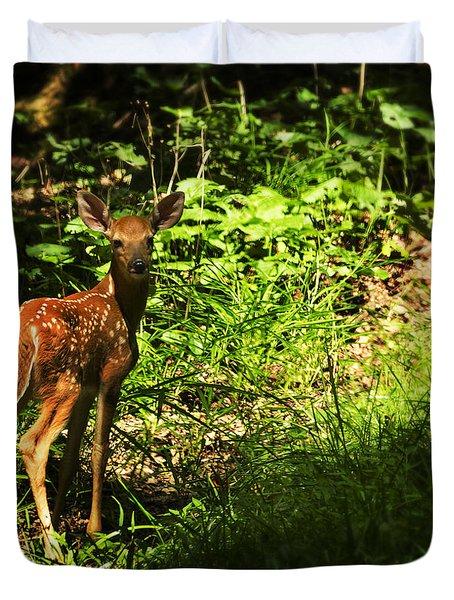Bambi Duvet Cover by Melissa Petrey