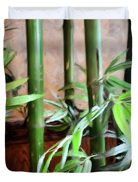 Duvet Cover featuring the photograph Plant -  Bamboo  -  Luther Fine Art by Luther Fine Art