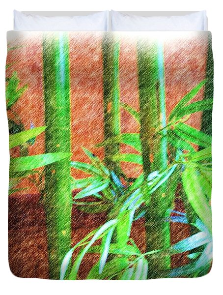 Bamboo #1 Duvet Cover by Luther Fine Art