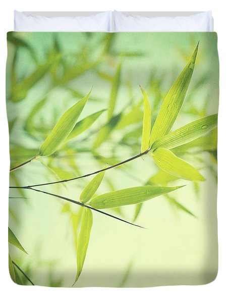 Bamboo In The Sun Duvet Cover by Priska Wettstein