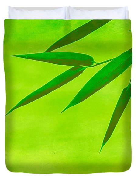 Bamboo Leaves Duvet Cover by Hannes Cmarits