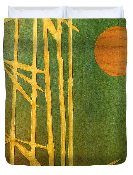 Bamboo Moon Duvet Cover by Desiree Paquette