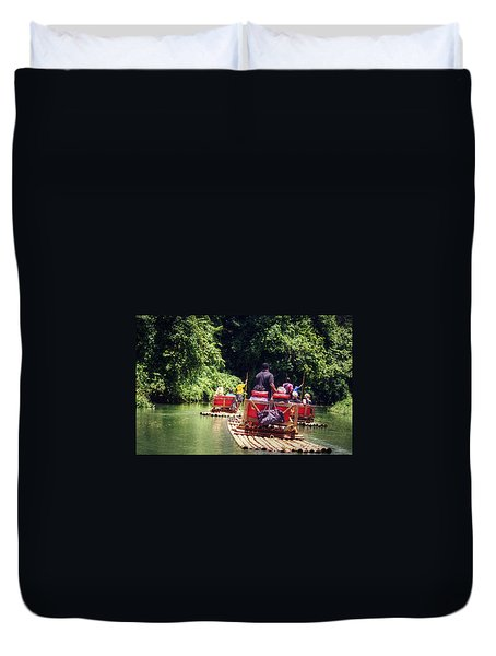 Bamboo River Rafting Duvet Cover