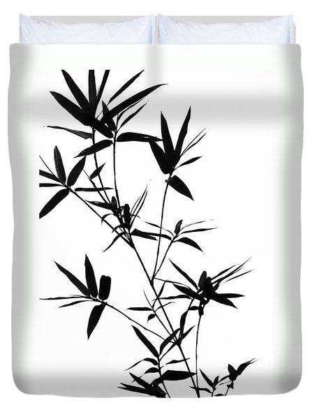 Bamboo Shadows Duvet Cover by Jenny Rainbow