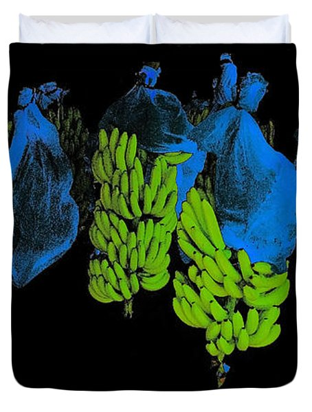 Banana Art Duvet Cover by Rudi Prott