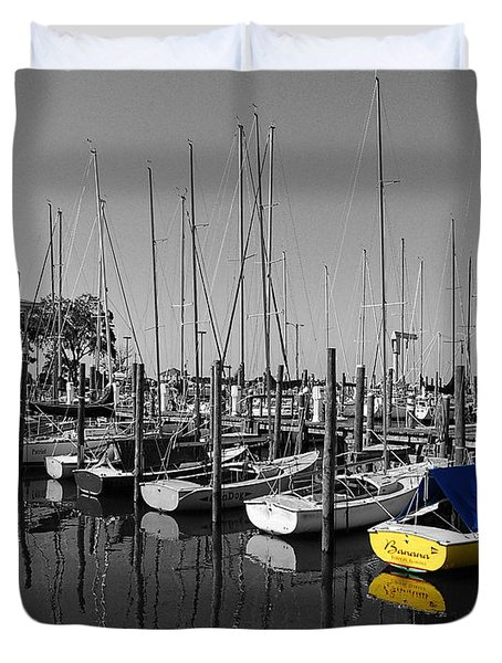 Banana Boat Duvet Cover by Michael Thomas