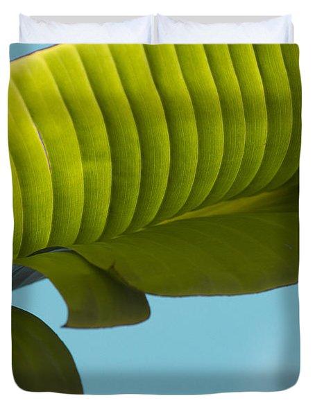 Banana Leaf And Maui Sky Duvet Cover by Sharon Mau
