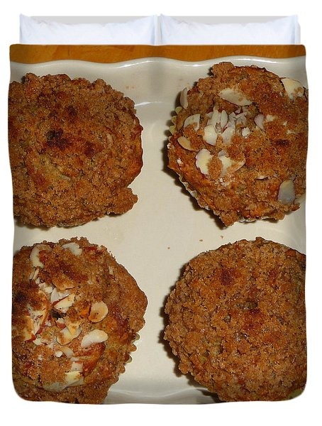 Banana Oat Crunch Muffins Duvet Cover