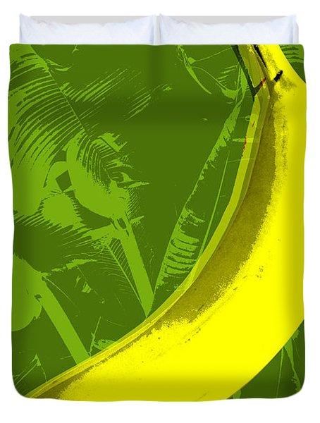 Banana Pop Art Duvet Cover