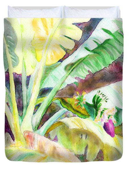 Banana Tree Duvet Cover by C Sitton