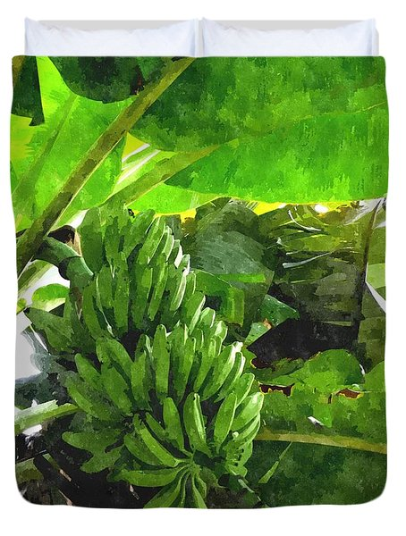 Banana Trees Duvet Cover by Lanjee Chee