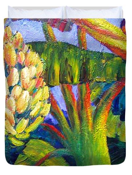 Bananas Duvet Cover by Cheryl Del Toro