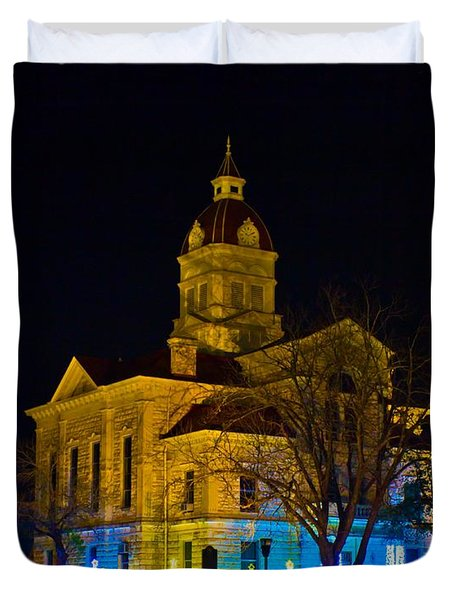 Bandera County Courthouse Duvet Cover