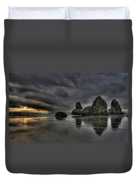 Bandon Beach Storm Duvet Cover by Thom Zehrfeld