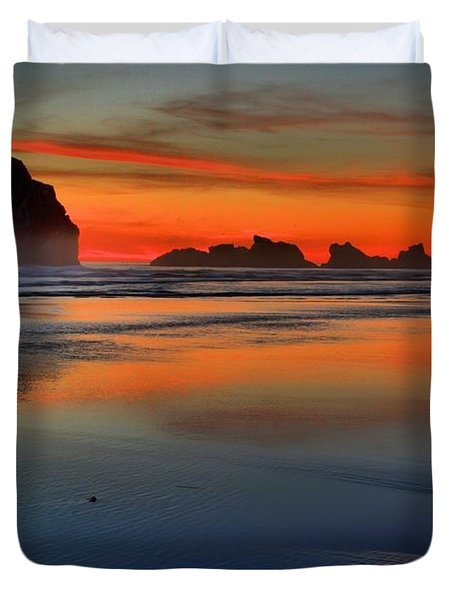 Bandon Foggy Fire Duvet Cover by Adam Jewell