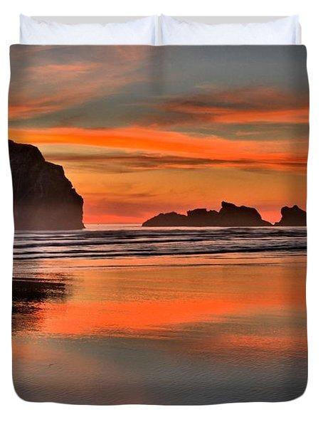 Bandon Orange Pastels Duvet Cover by Adam Jewell