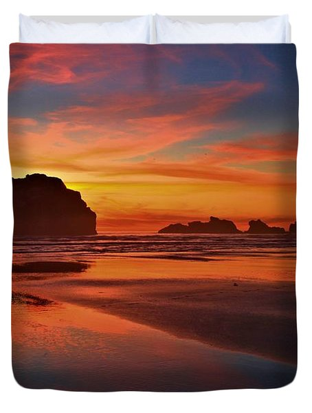 Bandon Sunset Spectacular Duvet Cover by Adam Jewell