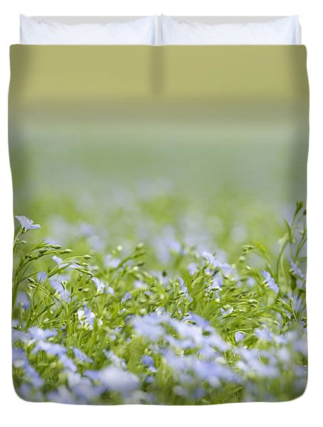 Bands Of Blue Duvet Cover by Anne Gilbert