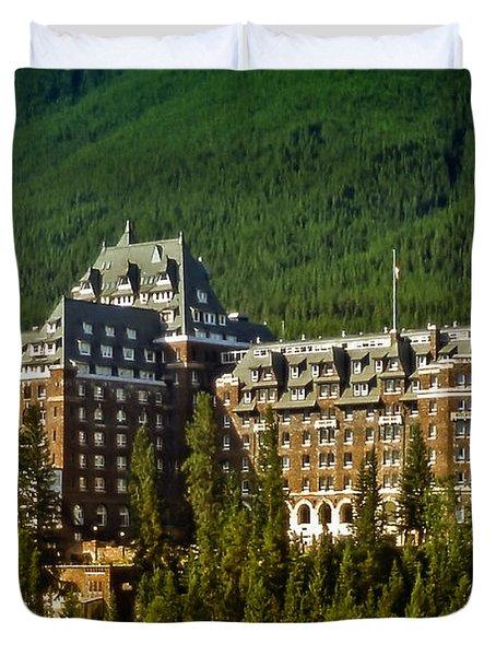 Banff Springs Hotel Duvet Cover