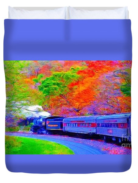 Bang Bang Choo Choo Train-a Dreamy Version Collection Duvet Cover