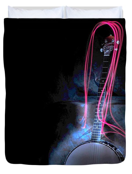 Duvet Cover featuring the photograph Banjo by Randi Grace Nilsberg