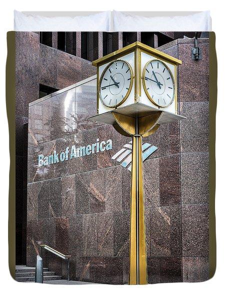 Bank Of American Building In Boston Duvet Cover