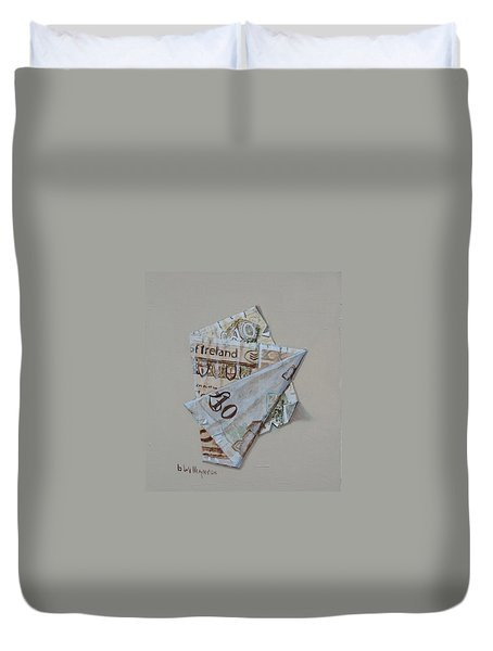 Bank Of Ireland Ten Pound Banknote Duvet Cover by Barry Williamson