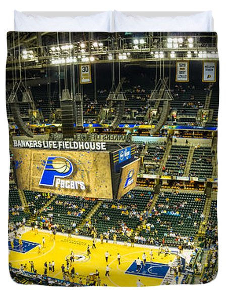 Bankers Life Fieldhouse - Home Of The Indiana Pacers Duvet Cover