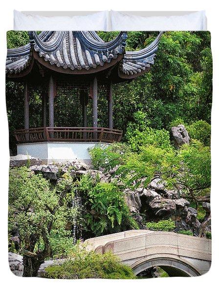 Bansi Garden Duvet Cover by John Swartz