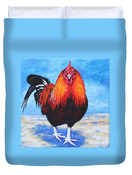 Bantam Rooster Duvet Cover by Penny Birch-Williams