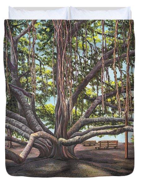 Banyan Tree Lahaina Maui Duvet Cover by Darice Machel McGuire