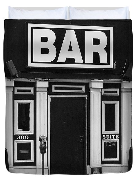 Duvet Cover featuring the photograph Bar by Rodney Lee Williams