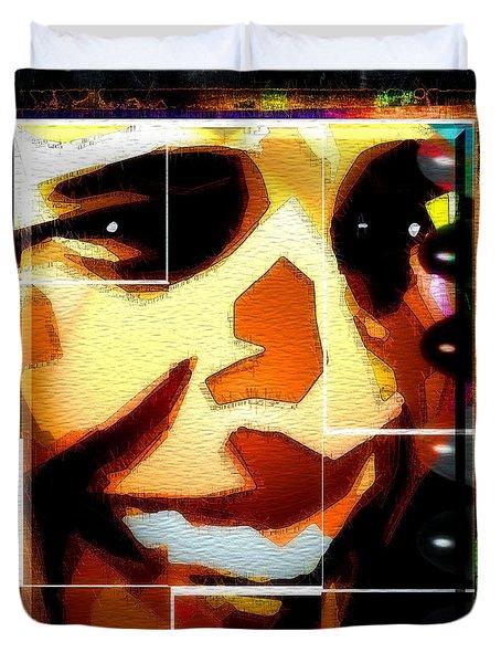 Duvet Cover featuring the digital art Barack Obama by Daniel Janda