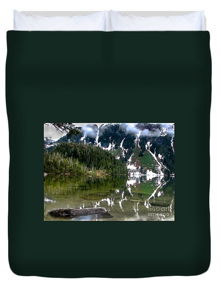 Baranof Lake Duvet Cover by Robert Bales