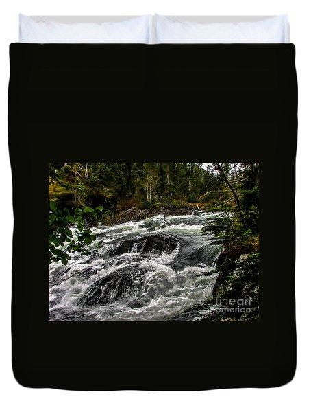 Baranof River Duvet Cover by Robert Bales