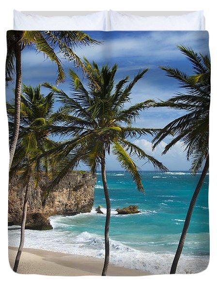 Duvet Cover featuring the photograph Barbados Beach by Brian Jannsen