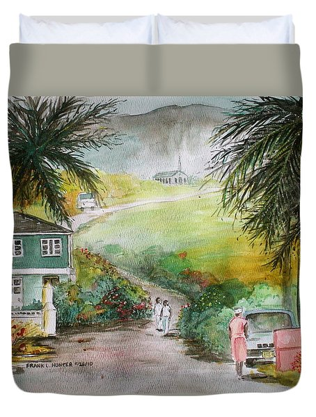 Barbados Duvet Cover by Frank Hunter