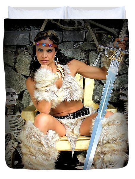 Barbarian Queen Duvet Cover