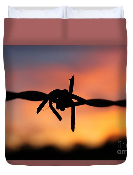 Barbed Silhouette Duvet Cover by Vicki Spindler