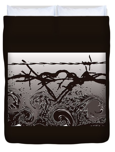 Barbedwire Love - Heartbreak Duvet Cover